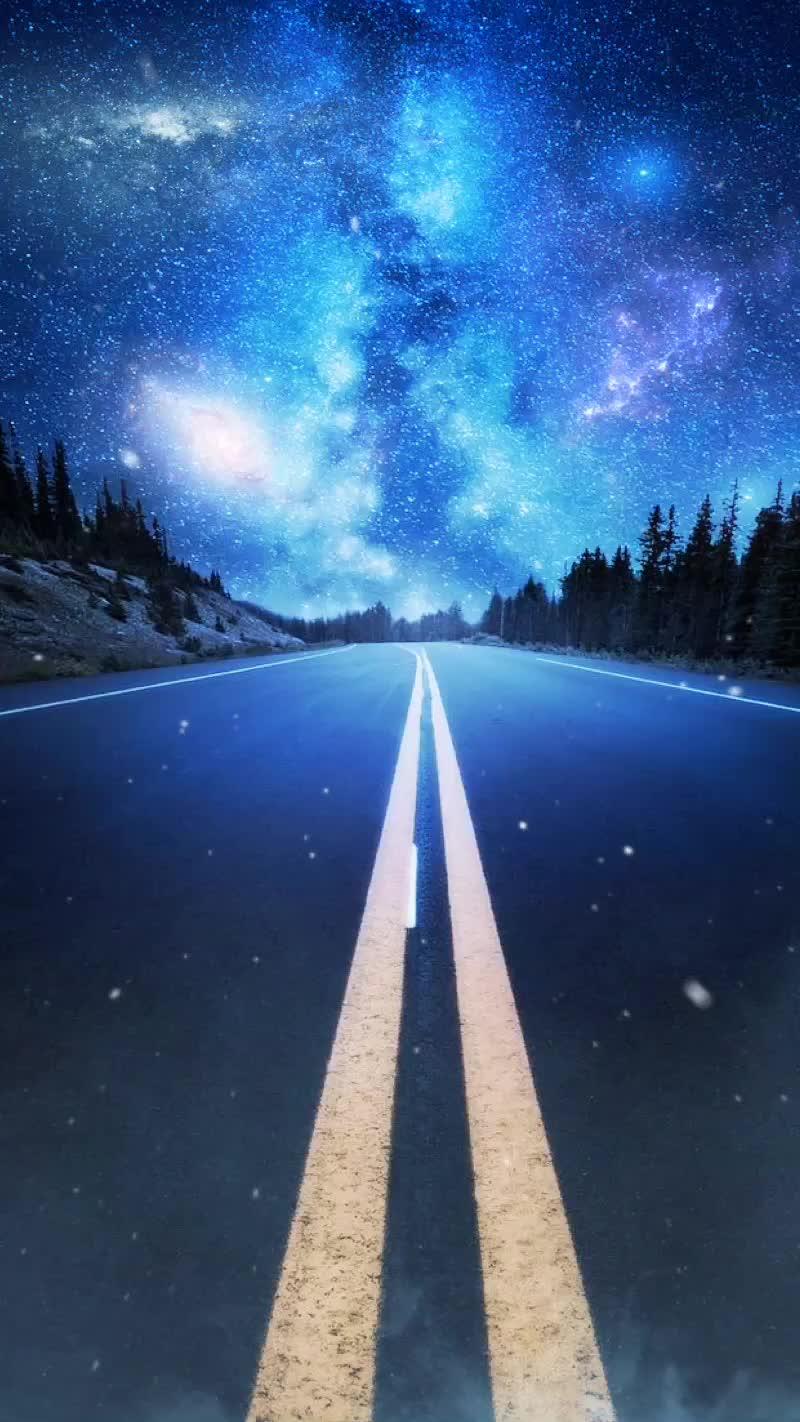 Tomy Tomy1497 On Tiktok ダイナミック壁紙 夜空 道路 綺麗 星